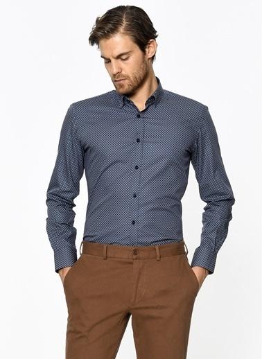 Desenli Slim Fit Gömlek-Daffari